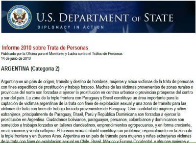 INFORME ANUAL - TRATA DE PERSONAS - ARGENTINA